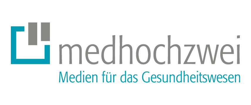 Logo des medhochzwei Verlags, Kooperationspartner des MBA Health Care Managements der Campus-Akademie der Universität Bayreuth